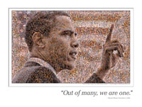 Spotlight shining on alumna, her Obama mosaic