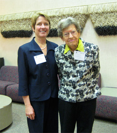 Janet Rogers and Mary Simon