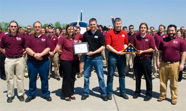 Troops thank SIUC aviation program for support
