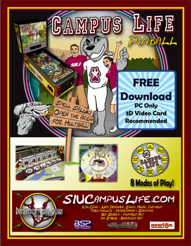 Master's student creates SIUC virtual pinball game