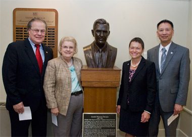 Philip and Pamela Pfeffer, Chancellor Rita Cheng and Tom Cheng