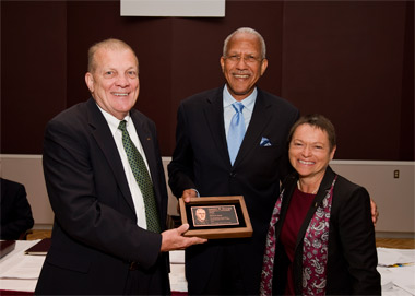 Harold R. Bardo, Randal Thomas and Chancellor Rita Cheng