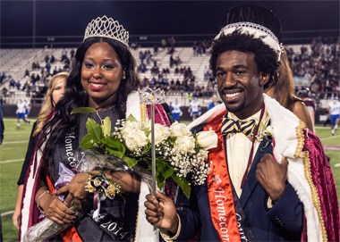 SIU Homecoming King and Queen