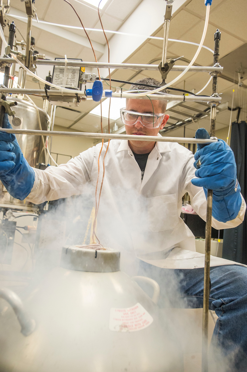 first generation student takes advantage of opportunities brian heine a senior in chemistry and biochemistry at southern illinois university carbondale works in a laboratory recently a trico high school graduate