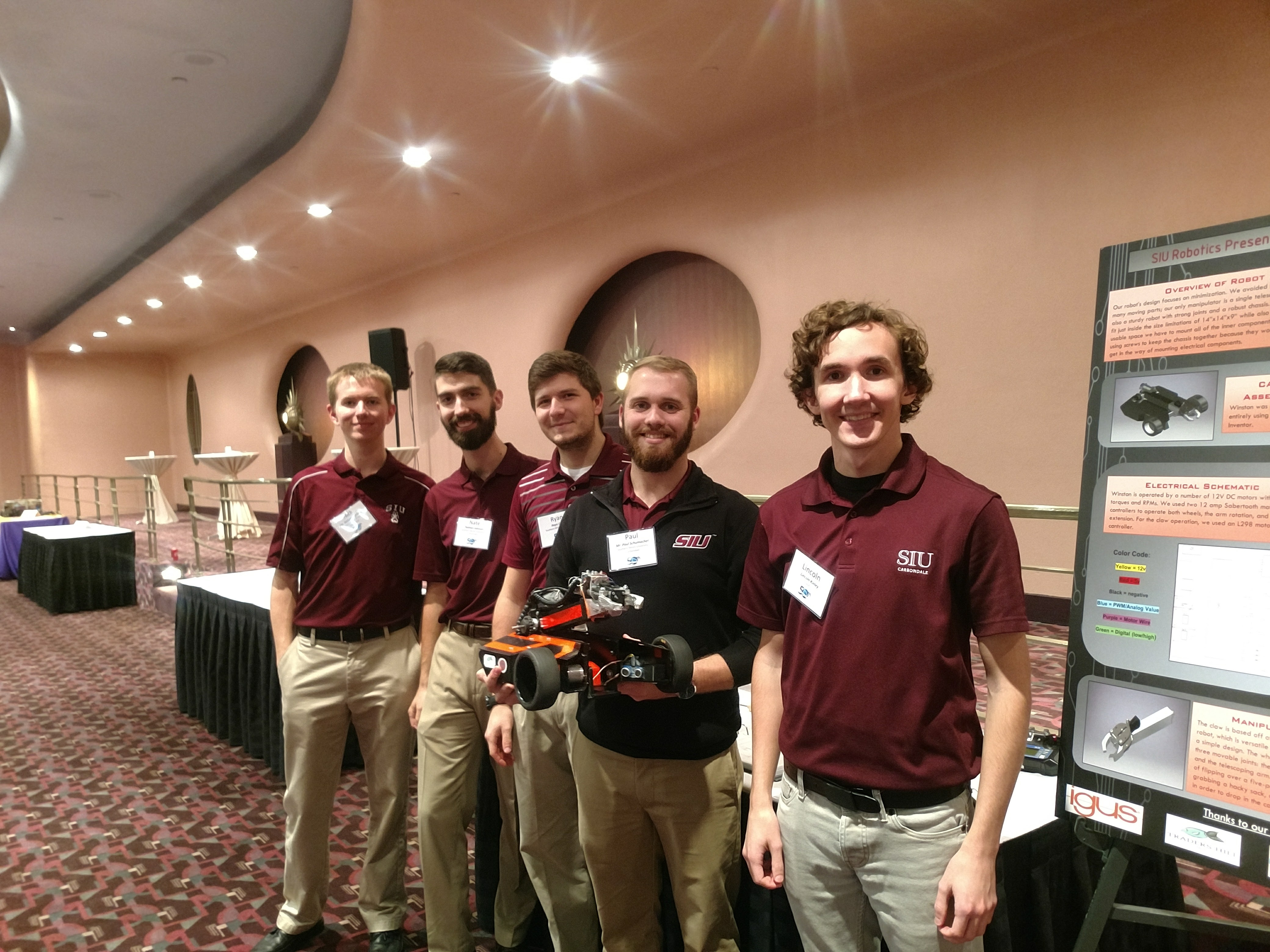 The robotics team at Southern Illinois University Carbondale