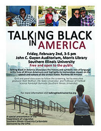 Talking Black in America flier