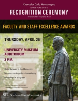 Faculty Staff Excellence Awards flier