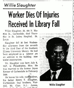 Willie Slaughter news clipping