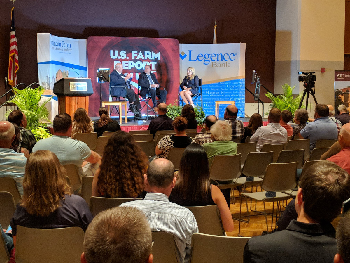 US Farm Report taping in 2018