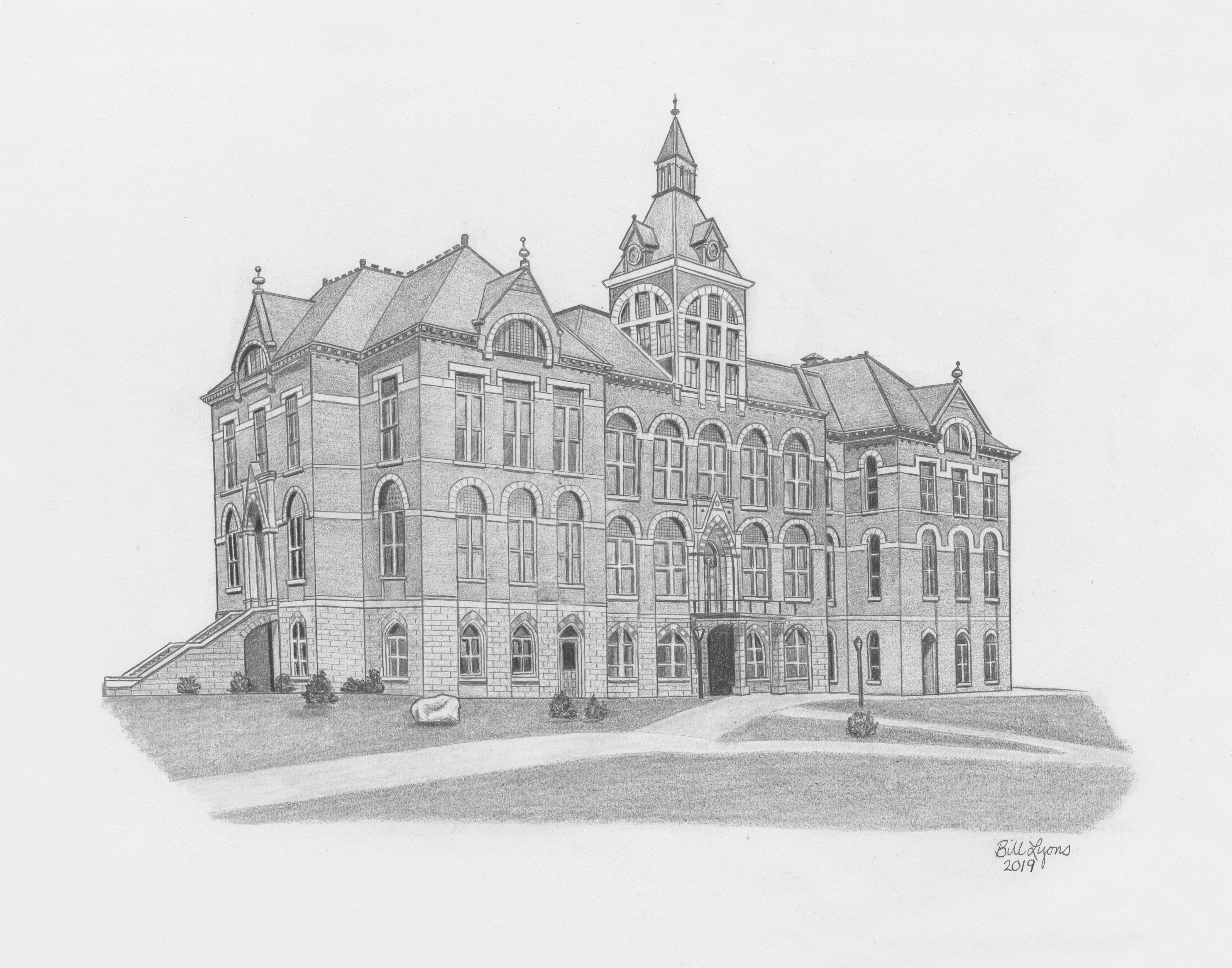 Old Main sketch